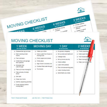 Moving Checklist for a Stress Free Move