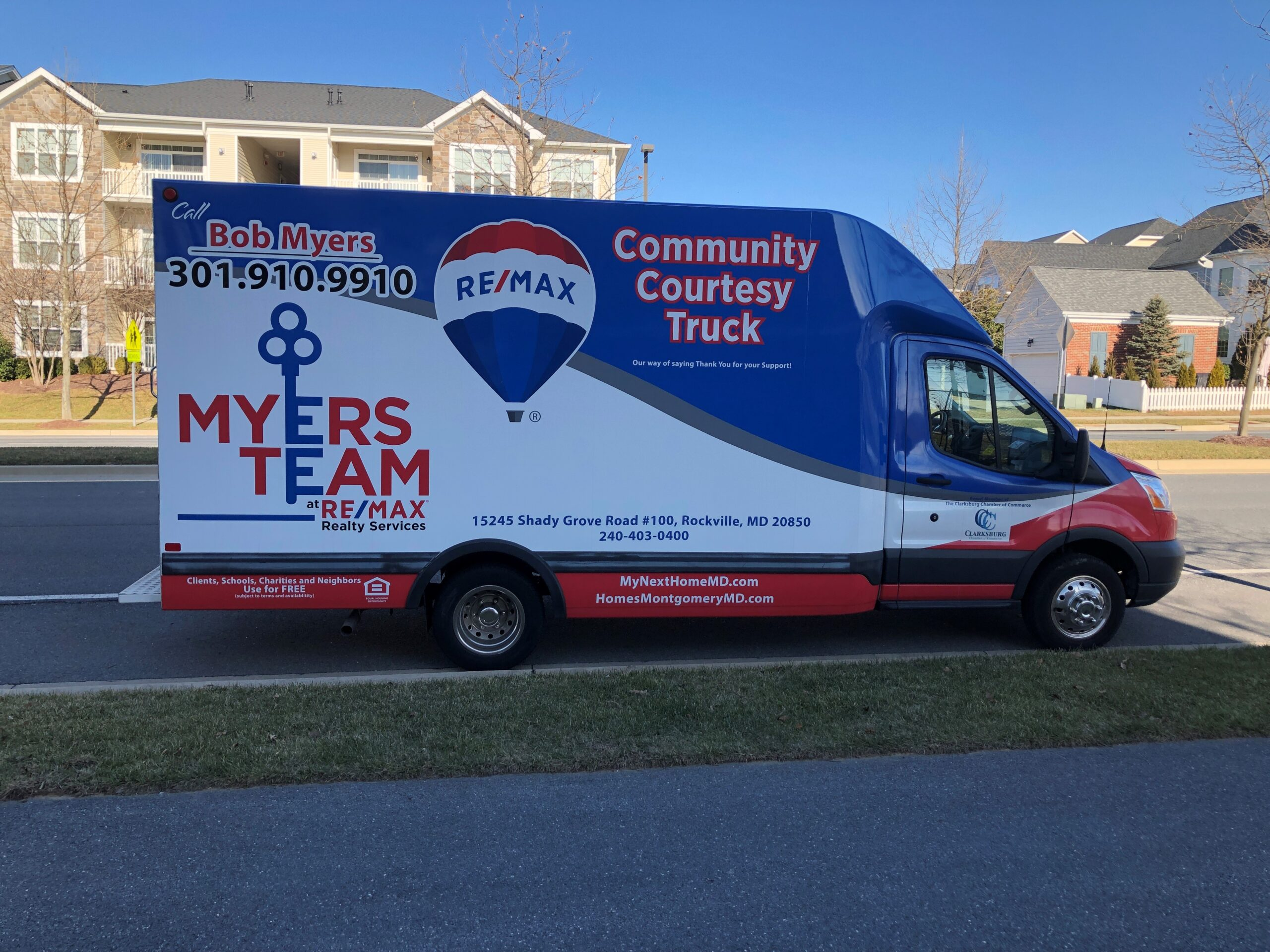 The Myers Team Moving Truck