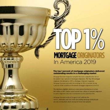 Top 1% ranking by Mortgage Executive Magazine